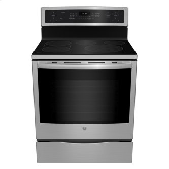 "GE Profile 30"" Electric Free Standing Induction Range with Storage Drawer Stainless Steel - PCHB920SMSS"