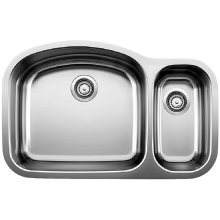Blancowave 1-1/2 Bowl (bowl Depth 10'') - Satin Polished Finish
