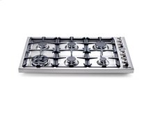 Stainless 36 6-Burner Drop-In Cooktop