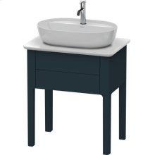 Vanity Unit For Console Floorstanding, Night Blue Satin Matt Lacquer