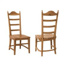 Tuscan Teak Ladder Back Chair (Set of 2)