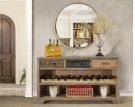 Bolero Sofa Table With Wine Rack and Drawers Product Image