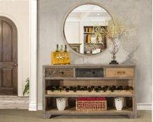 Bolero Sofa Table With Wine Rack and Drawers