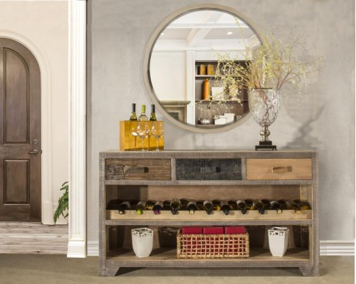 Bolero Sofa Table With Wine Rack and Drawers
