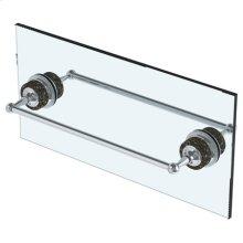 """6"""" Double Shower Door Pull/ Glass Mount Towel Bar"""