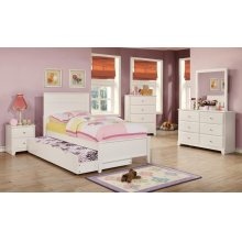 Ashton Transitional White Trundle