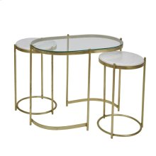 S/3 Iron Console / Side Tables, Gold