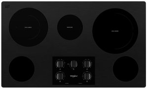 36-inch Electric Ceramic Glass Cooktop with Two Dual Radiant Elements Product Image