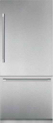 36-Inch Built-in Stainless Steel Professional Two Door Bottom Freezer