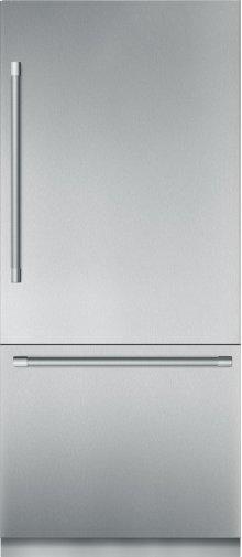 """36"""" Stainless Steel Built in 2 Door Bottom Freezer, Pre-Assembled, Professional Handle T36BB920SS"""
