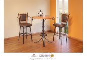 """30"""" Swivel Barstool w/Arms & Bonded Leather Seat & back"""