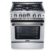 """30"""" four burner manual-clean gas range + convection oven - NG"""
