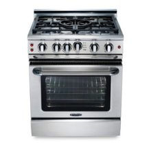 "30"" four burner manual-clean gas range + convection oven - NG"