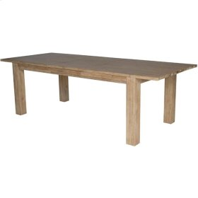 """Bedford Butterfly Dining Table w/ 20"""" Ext., Brushed Smoke"""