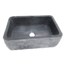Birgitta Single Bowl Granite Farmer Sink - Polished Black / 36""
