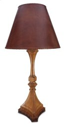 Pompeii Table Lamp With Leather Shade Product Image