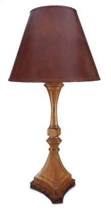 Pompeii Table Lamp With Leather Shade