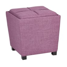 2-piece Ottoman Set With Tray Top In Milford Dahlia Fabric
