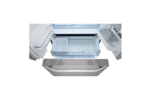 LG STUDIO 24 cu. ft. Smart wi-fi Enabled InstaView Door-in-Door® Counter-Depth Refrigerator