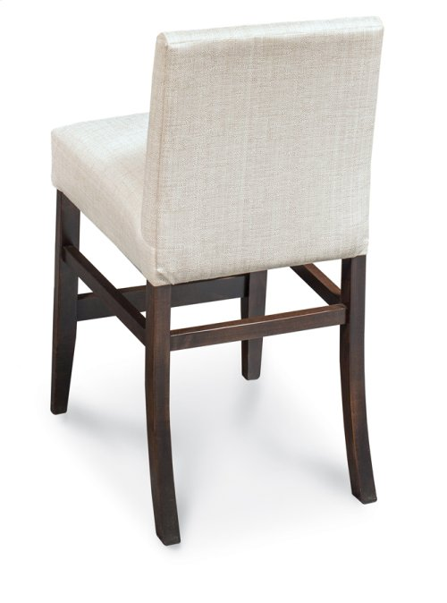 """Claire Stationary Barstool, 24""""h, Claire Stationary Barstool, 24""""h, Fabric Seat and Back"""