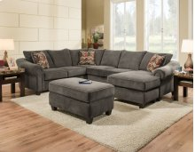 2800 - Dynasty Charcoal 2-Piece Sectional
