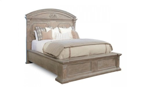 Arch Salvage Queen Chambers Panel Bed - Parchment