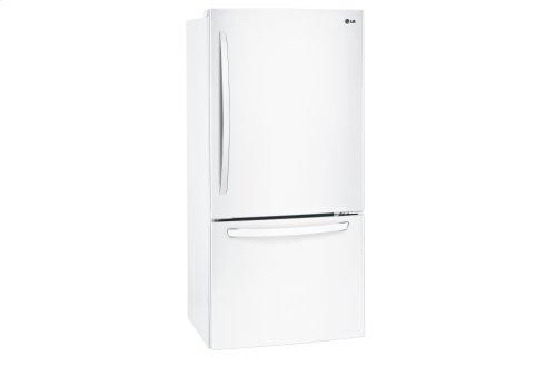 "24 cu. ft Large Capacity 33"" Wide Bottom Freezer Refrigerator"