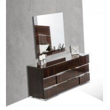 Modrest Picasso Italian Modern Ebony Lacquer Mirror