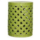 Lattice Leaves Garden Stool, Dark Green Product Image
