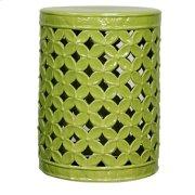 Lattice Leaves Garden Stool, Dark Green Product Image