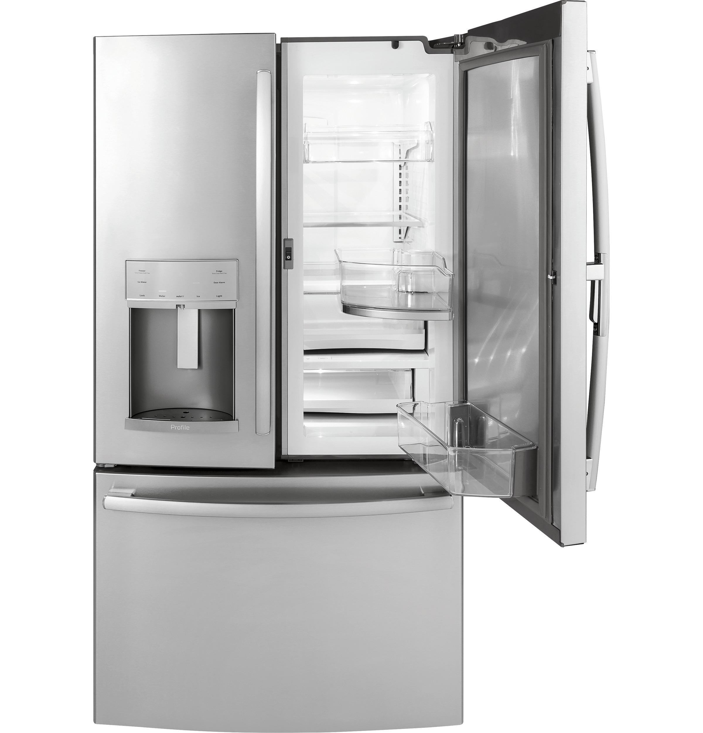 GE Profile Series 22.2 Cu. Ft. Counter Depth French Door Refrigerator With  Door In Door And Hands Free Autofill