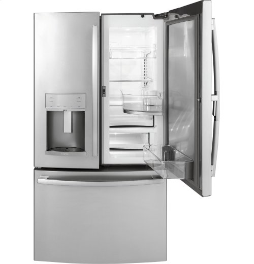 GE Profile Series 22.2 Cu. Ft. Counter-Depth French-Door Refrigerator with Door In Door and Hands-Free AutoFill