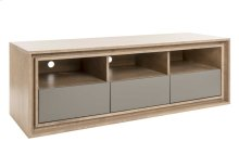 TV Base In Birch Veneer / 3 Drawers