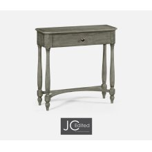 Antique Dark Grey Small Console Table with Drawer