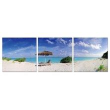 Modrest Island Life 3-Panel Painting