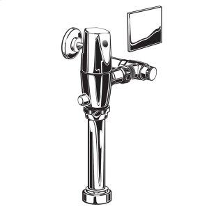 "Polished Chrome Exposed Ac Toilet Flushometer For 1-1/2"" Top Spud Bowls"