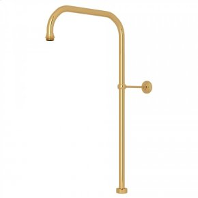 """English Gold Perrin & Rowe 63"""" X 15"""" Rigid Riser Shower Outlet"""