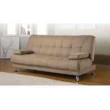 Casual Tan Sofa Bed