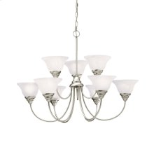 Telford 9 Light 2 Tier Chandelier Brushed Nickel