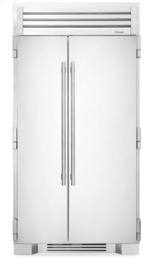 42 Inch Stainless Doors Full Size Refrigerator - - Stainless Solid