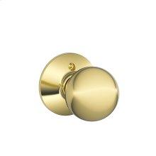 Orbit Knob Non-turning Lock - Bright Brass