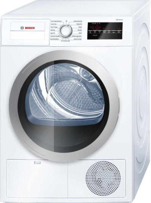 500 Series Cond. Dryer - 208/240V, Cap. 4.0 cu.ft., 15 Cyc.,65 dBA, SS Drum, Silv. Rev./Door; ENERGY STAR