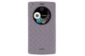 LG Quick Circle Snap-On Folio Case for LG G4 (Not Compatible with Genuine Leather Cover)