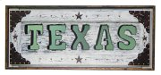 White Texas Letter Mirror Product Image