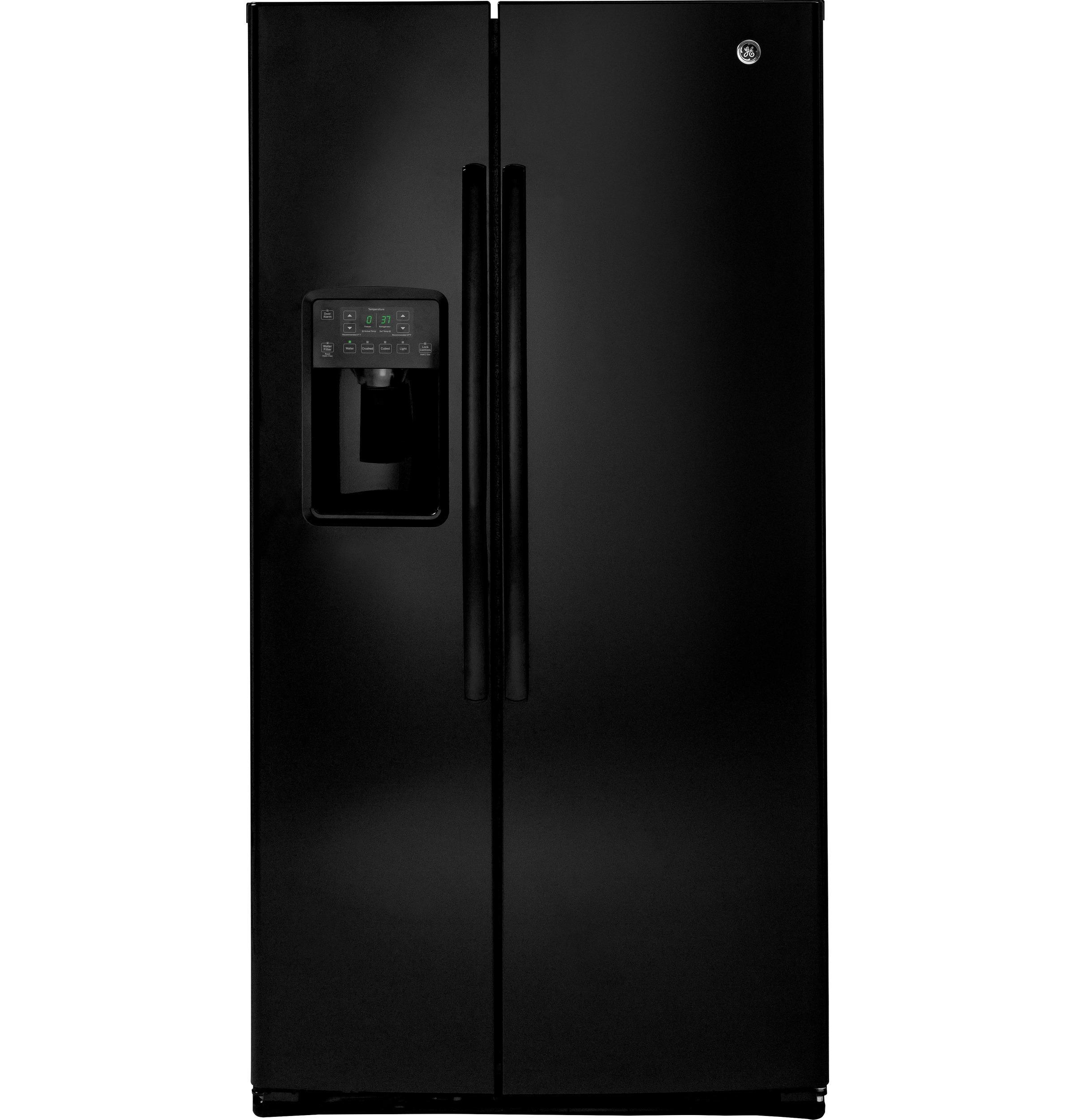 GE(R) ENERGY STAR(R) 25.3 Cu. Ft. Side-By-Side Refrigerator  BLACK