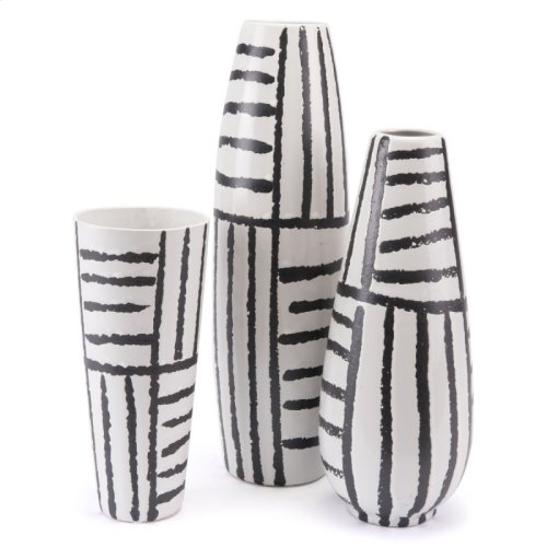 Croma Md Vase Black & White