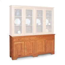 "Shaker Hutch Base, Extra Large, Shaker Hutch Base, 73 1/2"", 18"" Base"