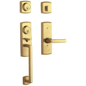 Lifetime Polished Brass Soho Two-Point Lock Handleset