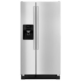 Amana® Side-by-Side Refrigerator with Deli Drawer - Black-on-Stainless