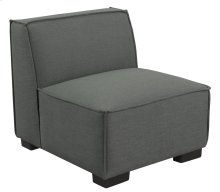 Armless Chair-gray Cinder #zw7381-5